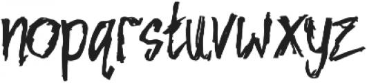 NIGHTMARE Regular otf (400) Font LOWERCASE