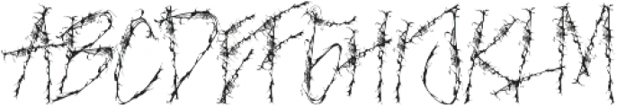 NIGHTMARE otf (400) Font LOWERCASE
