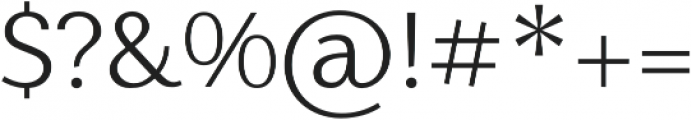 Nic Light otf (300) Font OTHER CHARS