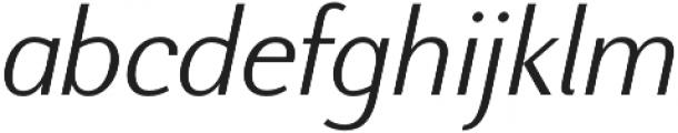 Nic LightItalic otf (300) Font LOWERCASE