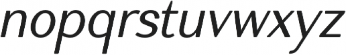 Nic NormalItalicRounded otf (400) Font LOWERCASE
