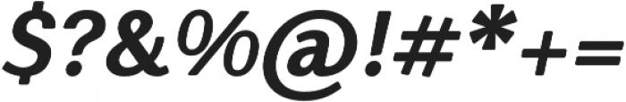 Nic XBoldItalicRounded otf (700) Font OTHER CHARS