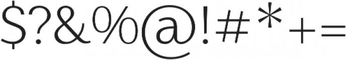 Nic XLight otf (300) Font OTHER CHARS