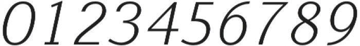 Nic XLightItalic otf (300) Font OTHER CHARS
