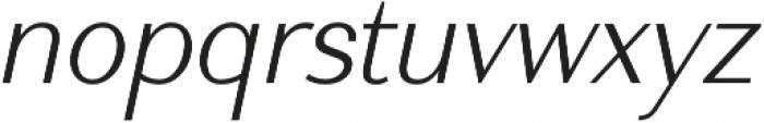 Nic XLightItalic otf (300) Font LOWERCASE