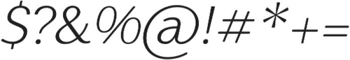 Nic XLightItalicRounded otf (300) Font OTHER CHARS