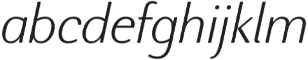 Nic XLightItalicRounded otf (300) Font LOWERCASE