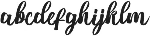 Nichole Script Medium otf (500) Font LOWERCASE