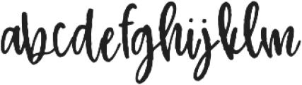 Nickely Regular otf (400) Font LOWERCASE