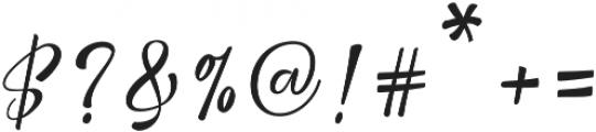 Nicolette Script otf (400) Font OTHER CHARS