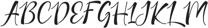 Nicolette Script otf (400) Font UPPERCASE