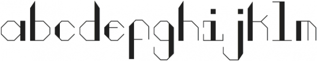 Nicotine02 Regular otf (400) Font LOWERCASE