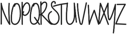 NightWork Regular otf (400) Font UPPERCASE