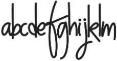 NightWork Regular otf (400) Font LOWERCASE