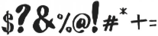Nightamore Brush Free Font ttf (400) Font OTHER CHARS