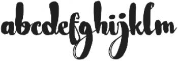 Nightamore Brush Free Font ttf (400) Font LOWERCASE