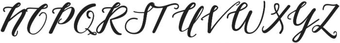 Nightcall Bold Regular otf (700) Font UPPERCASE
