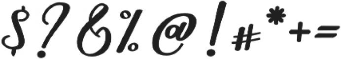 Nightcall Upright Bold Regular otf (700) Font OTHER CHARS