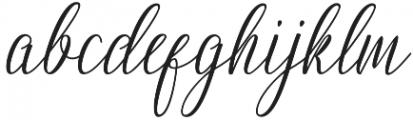 Nightingale otf (400) Font LOWERCASE
