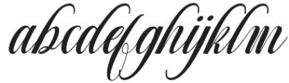 Nighty otf (400) Font LOWERCASE