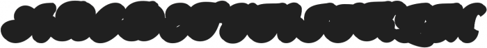 Nigthwel Extrude  Regular otf (400) Font UPPERCASE