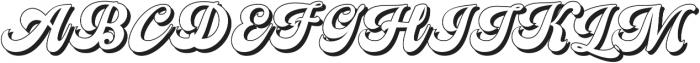 Nigthwel Shadow Regular otf (400) Font UPPERCASE