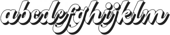 Nigthwel Shadow Regular otf (400) Font LOWERCASE