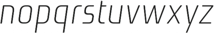 Niks Light Italic otf (300) Font LOWERCASE