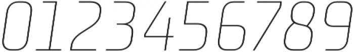 Niks Thin Italic otf (100) Font OTHER CHARS