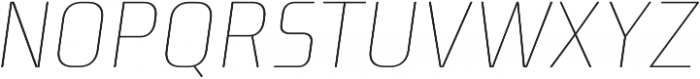 Niks Thin Italic otf (100) Font UPPERCASE