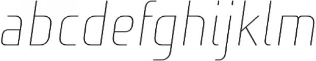 Niks Thin Italic otf (100) Font LOWERCASE