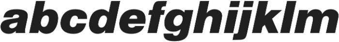 Nimbus Sans Black Italic otf (900) Font LOWERCASE