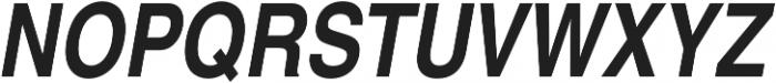 Nimbus Sans Cond L Bold Italic otf (700) Font UPPERCASE