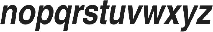 Nimbus Sans Cond L Bold Italic otf (700) Font LOWERCASE