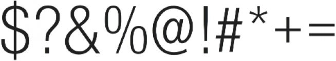 Nimbus Sans Cond L Light otf (300) Font OTHER CHARS