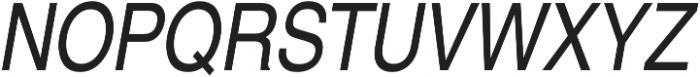 Nimbus Sans Cond L Regular Italic otf (400) Font UPPERCASE