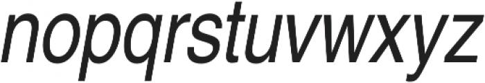Nimbus Sans Cond L Regular Italic otf (400) Font LOWERCASE