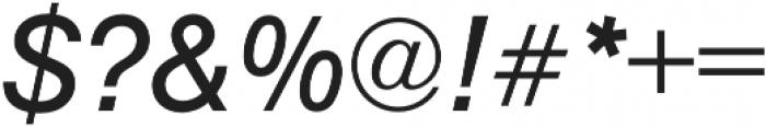 Nimbus Sans Regular Italic otf (400) Font OTHER CHARS