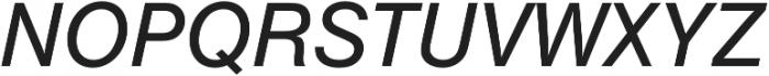 Nimbus Sans Regular Italic otf (400) Font UPPERCASE