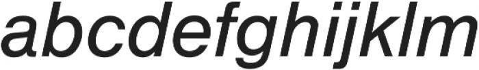 Nimbus Sans Regular Italic otf (400) Font LOWERCASE