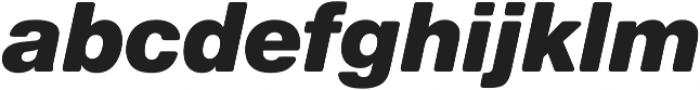 Nimbus Sans Round Black Italic otf (900) Font LOWERCASE