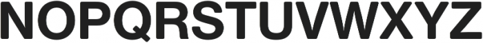Nimbus Sans Round Bold otf (700) Font UPPERCASE