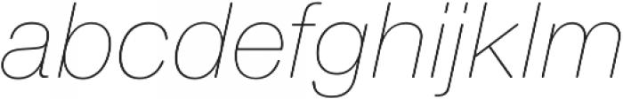 Nimbus Sans Round Ultra Light Italic otf (300) Font LOWERCASE
