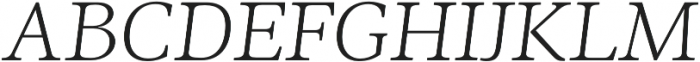 Ninfa Serif Light Italic otf (300) Font UPPERCASE