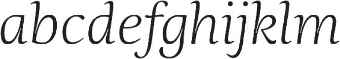 Ninfa Serif Light Italic otf (300) Font LOWERCASE