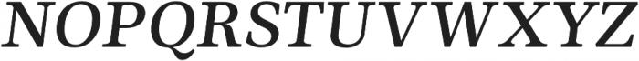 Ninfa Serif SemiBold Italic otf (600) Font UPPERCASE