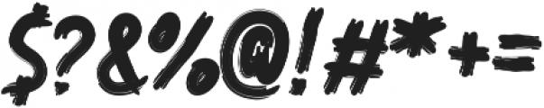 Nioxra otf (400) Font OTHER CHARS