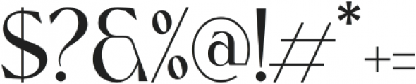Nissma Standard Regular otf (400) Font OTHER CHARS