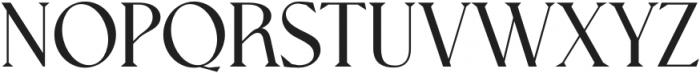 Nissma Standard Regular otf (400) Font UPPERCASE