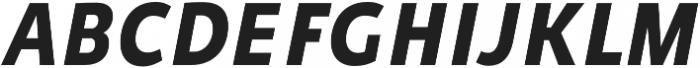 Niva Bold-Italic_Condensed otf (700) Font UPPERCASE